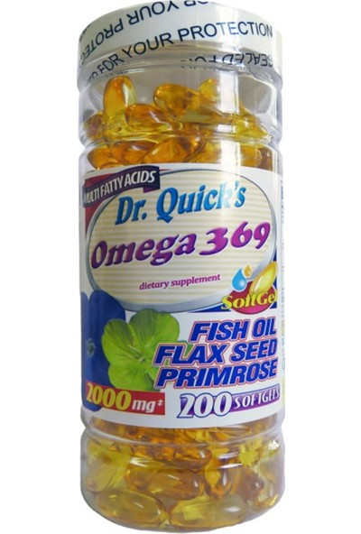 Dr Quicks Omega 3.6.9 Flax Seed Oil Primrose Oil 200 Softgel