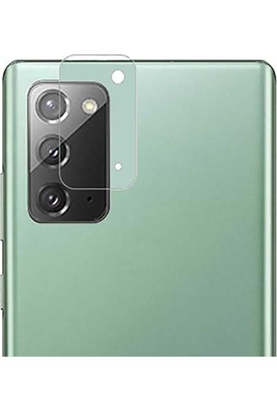 Teleplus Samsung Galaxy Note 20 Tam Kapatan Cam Ekran Koruyucu Siyah + Kamera Nano Koruyucu
