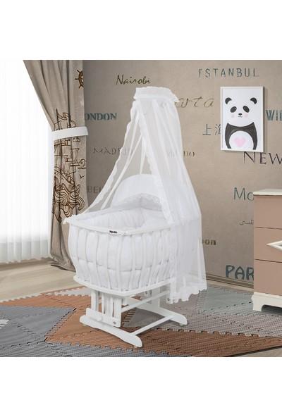 Bebeşik Krem Prestij Beyaz Sepet Beşik