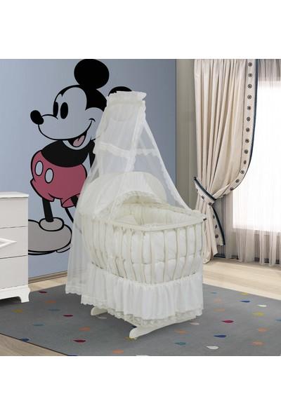 Bebeşik Krem Prestij Lux Beyaz Sepet Beşik