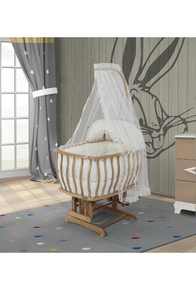 Bebeşik Natürel Prestij Beyaz Sepet Beşik