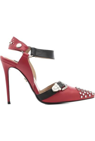 İlvi Amber Kadın Sandalet Kırmızı Deri