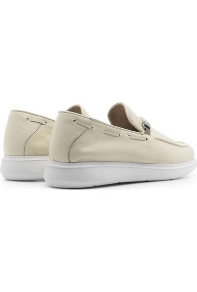 İlvi Carol Erkek Makosen Ayakkabı Bej Floater