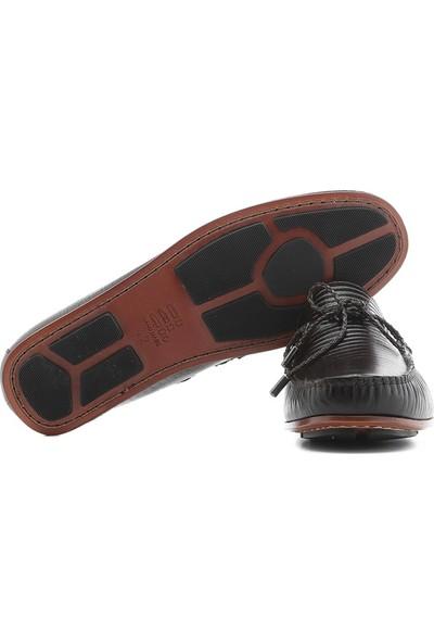 İlvi Kamila Erkek Makosen Ayakkabı Kahve Stil Lazer