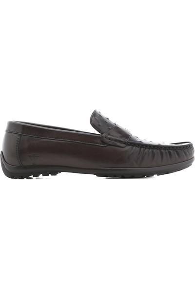 İlvi Keytlin Erkek Makosen Ayakkabı Kahve Alkollü