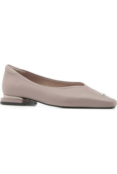 İlvi Nelly Kadın Babet Ayakkabı Pembe Deri