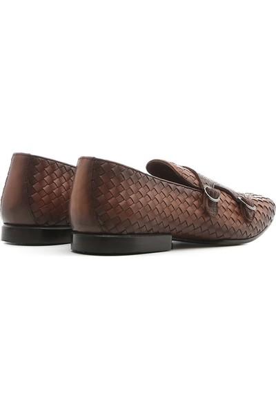 İlvi Robyn Erkek Makosen Ayakkabı Taba Alkollü Örgü