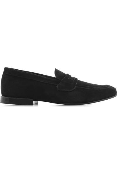 İlvi Velda Erkek Makosen Ayakkabı Siyah Süet