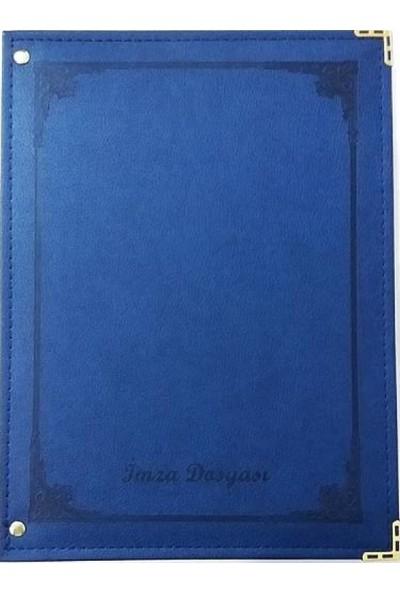 Önder 7100 Termo Deri İmza Dosyası 12'li Lacivert