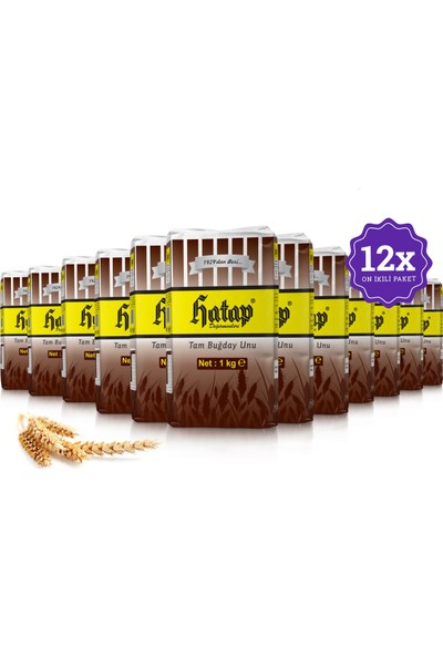 Hatap Tam Buğday Unu 12 x 1 kg Avantajlı Paket