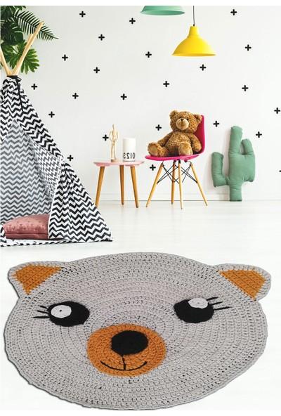 Nuh Home El Yapımı Çocuk Odası Halısı Ayıcık Desenli Çocuk Halısı