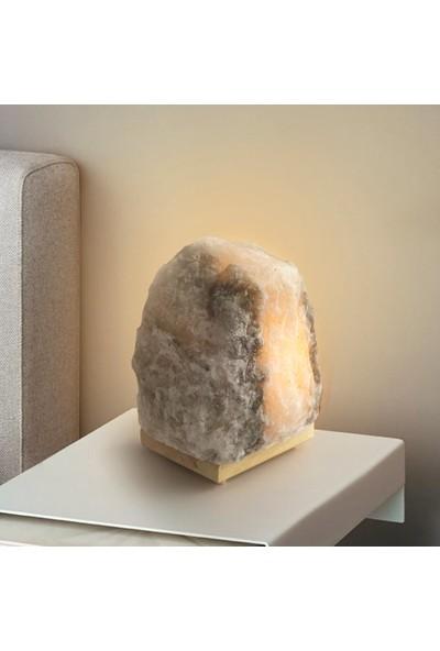Doğaca Doğal Taş Tasarımlı Dekoratif Doğal Çankırı Kaya Tuzu Gece Lambası