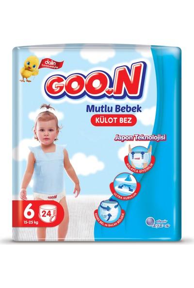 Goon Bebek Bezi Mutlu Bebek Külot Bezi 6 No 24 Lü x 6