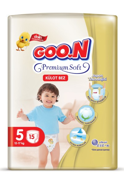 Goon Premium Soft Külot Bez 5 Beden 15 Li x 6