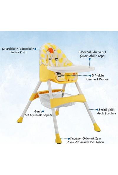 BABY2GO 2071 Pratik Mama Sandalyesi Sarı