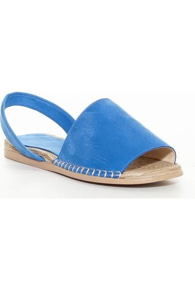 Erbilden Alanzo Mavi Süet Sandalet
