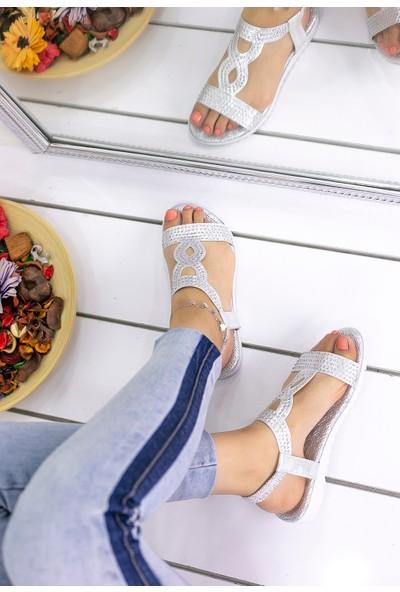 Erbilden Jocelyn Gümüş Cilt Sandalet