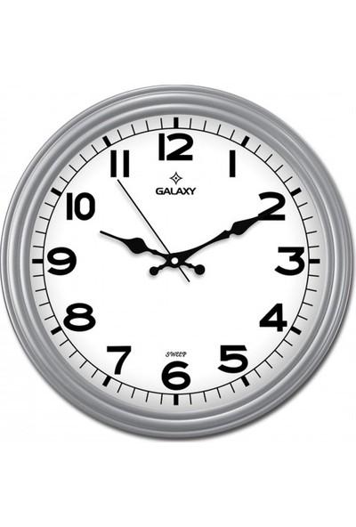İş Saat Akar Saniyeli Modern Duvar Saati