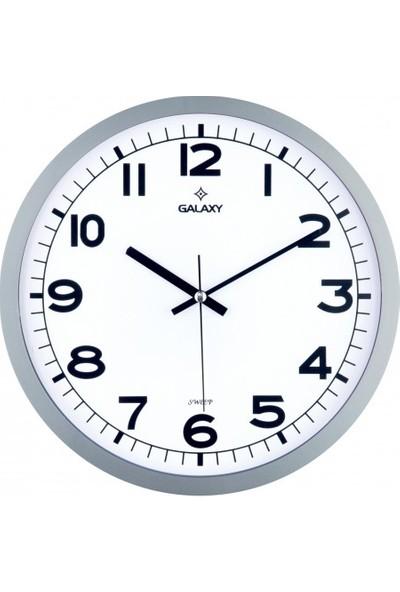 İş Saat Sessiz Akar Saniyeli Mekanizma Modern Duvar Saati