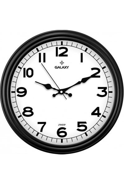 İş Saat Sessiz Akar Saniyeli Modern Duvar Saati