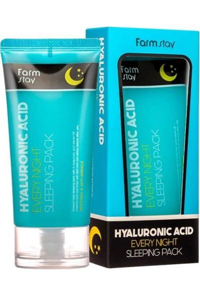 Farmstay Hyaluronik Asit Uyku Bakım Paketi - Nemlendirir Sıkılaştırır Beyazlatır ve Kırışıkları Giderir