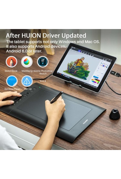 Huion H610 Pro V2 8192 Grafik Tablet (Yurt Dışından)