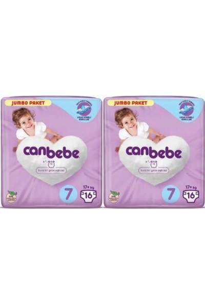 Canbebe Jumbo Paket 7 Numara Xxl 17+ (16) -2'li (32 Adet)