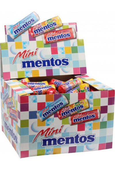 Mentos Şeker (Mini) Karma 10.5Gr - 120'Li Paket