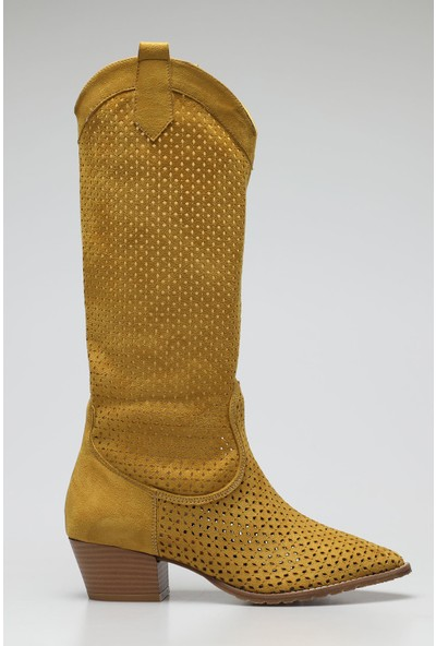 Rovigo Plus Hardal Suet Kadın Çizme
