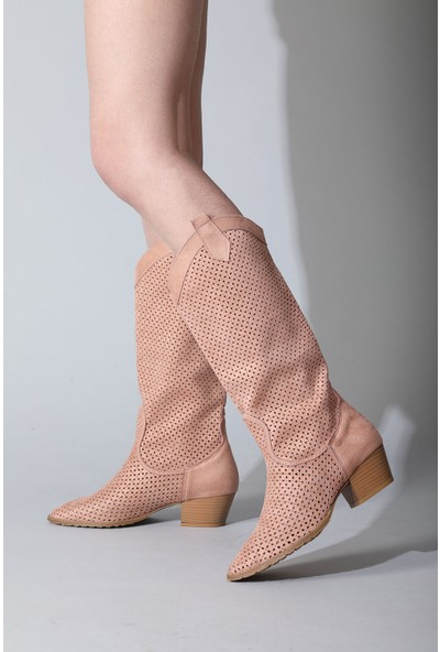 Rovigo Plus Pudra Suet Kadın Çizme