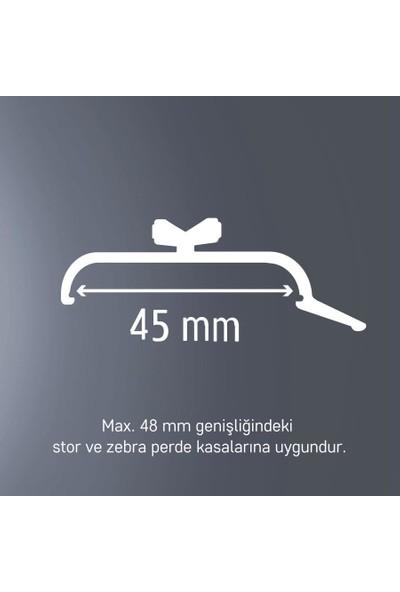 Slimflex Korniş Stor Perde Montaj Aparatı Geniş Kasa 45MM 3 Adet