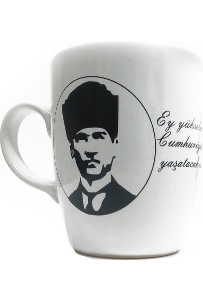 Keramika Atatürk Desenli Kupa