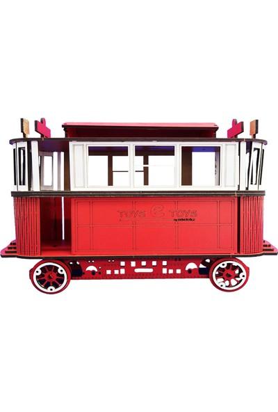 Pershang Toysetoys Taksim Tünel Tramvayı 63 Parça Ahşap 3D Puzzle