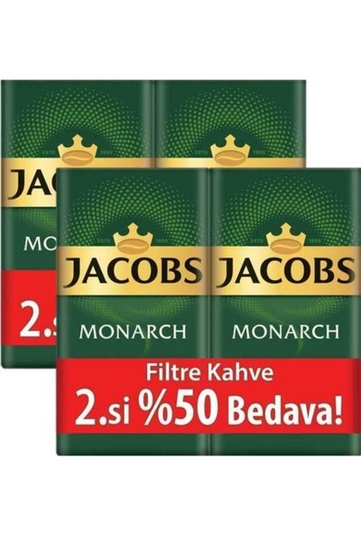 Jacobs Monarch Filtre Kahve 2 x 500 gr (2'li Set)