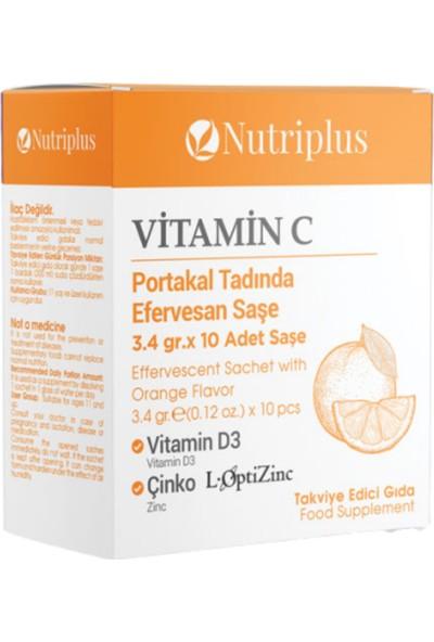 Nutrıplus Vitamin C Vvitamin D3 ve Çinko Içeren Efervesan Takviye Edici Gıda