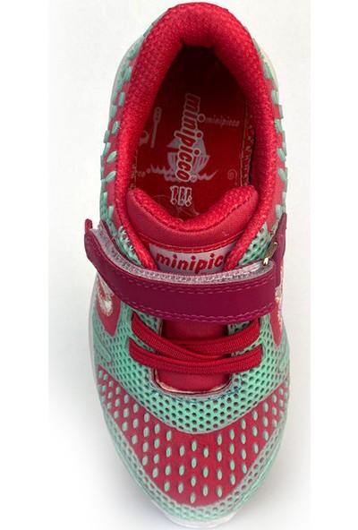Minipicco Unisex Çocuk Fuşya Yeşil Spor Ayakkabı