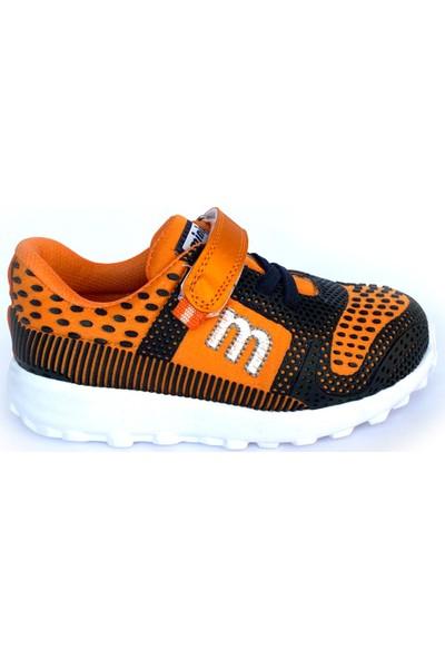 Minipicco Unisex Çocuk Lacivert Turuncu Spor Ayakkabı