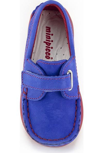 Minipicco Unisex Çocuk Saks Deri Ayakkabı