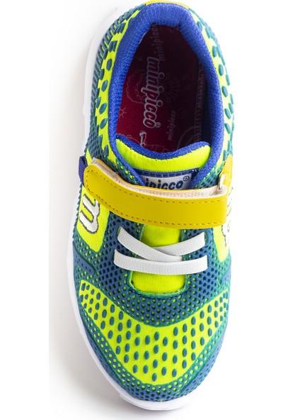 Minipicco Unisex Çocuk Saks Yeşil Spor Ayakkabı