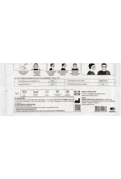 Maisonette Yıkanabilir Pamuklu Yüz Maskesi 5 Li Paket Rengarenk L Beden