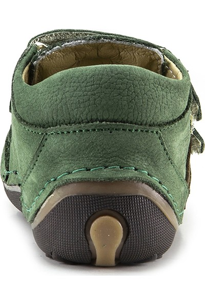Minipicco Erkek Bebek Yeşil Deri İlk Adım Bot