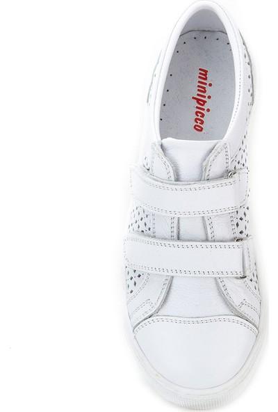 Minipicco Erkek Çocuk Beyaz Deri Ayakkabı