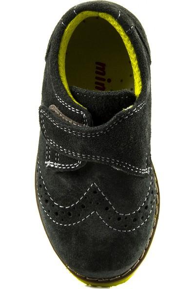 Minipicco Erkek Çocuk Haki Deri Ayakkabı