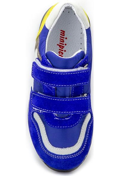 Minipicco Erkek Çocuk Saks Deri Ayakkabı