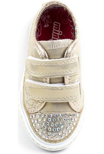 Minipicco Kız Çocuk Altın Spor Ayakkabı