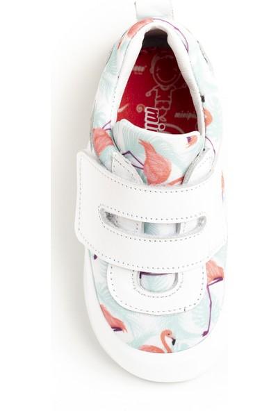 Minipicco Kız Çocuk Beyaz Deri Spor Ayakkabı