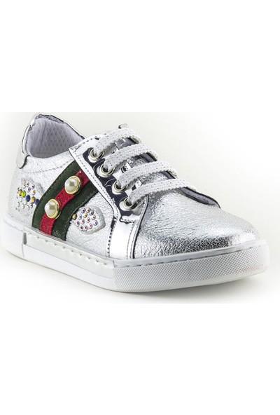 Minipicco Kız Çocuk Gümüş Ayakkabı