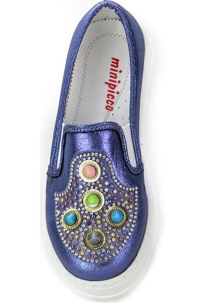 Minipicco Kız Çocuk Lacivert Ayakkabı