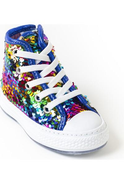 Minipicco Kız Çocuk Renkli Pullu Spor Ayakkabı