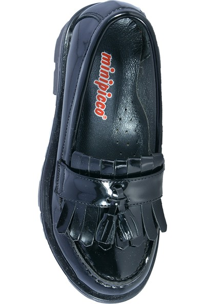 Minipicco Kız Çocuk Rugan Siyah Ayakkabı